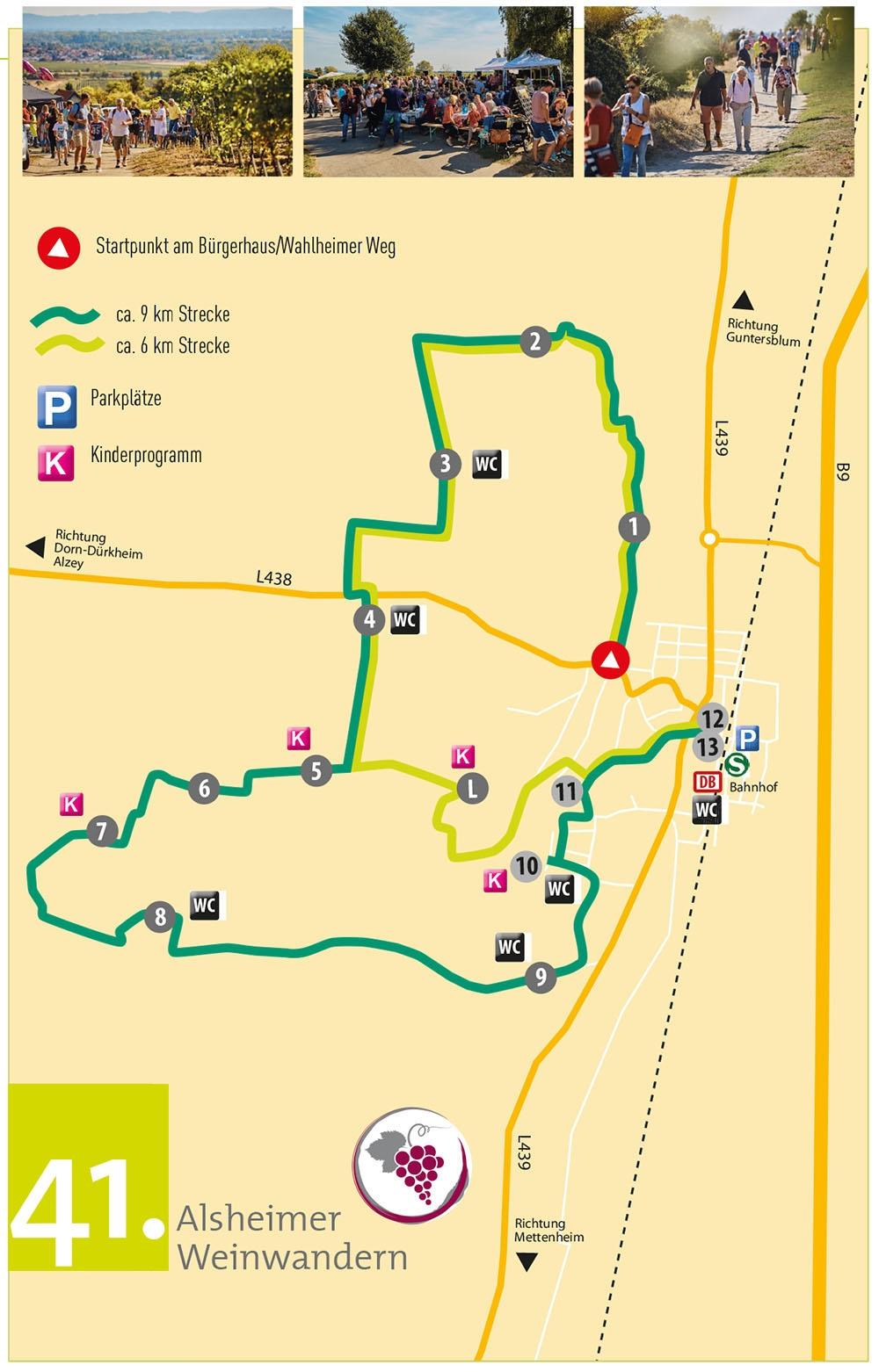 Weinwandern Alsheim Route